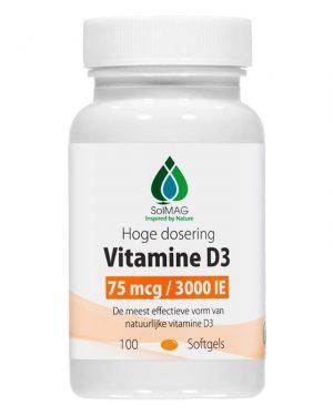 Vitamine D3 Softgels - 3000eenheden 75microgram